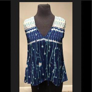 BCBG Max Azria Violette sleeveless tunic top Sz XS